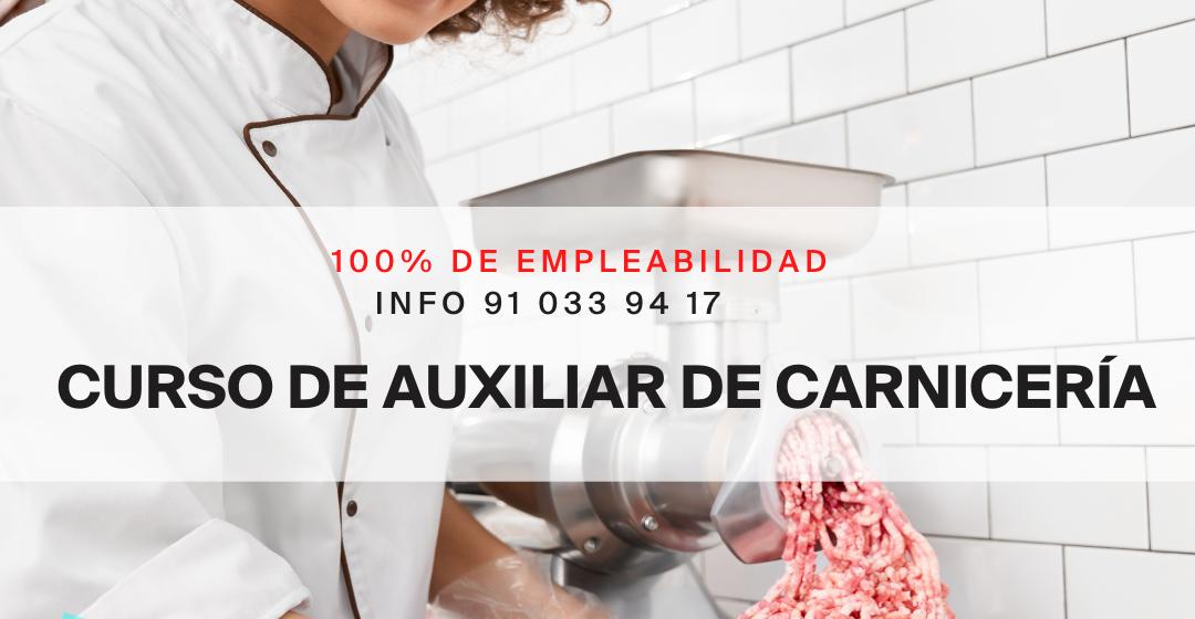 IV EDICIÓN DEL CURSO DE AUXILIAR DE CARNICERÍA